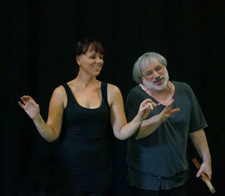 Antonia Fava and Corinna Di Niro leading personal development for drama teachers in Adelaide 2013