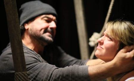 Bone Cage actors on stage, Adelaide Flinders University